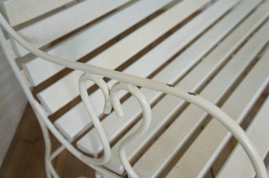 アイアン 鉄脚 2人掛け ベンチ 長椅子 ガーデニング チェア