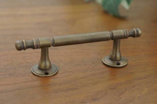 アンティーク調 ドアハンドル ストレートタイプ 真鍮製 小