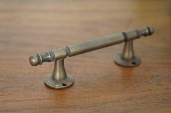 アンティーク調 ドアハンドル ストレートタイプ 真鍮製 極小