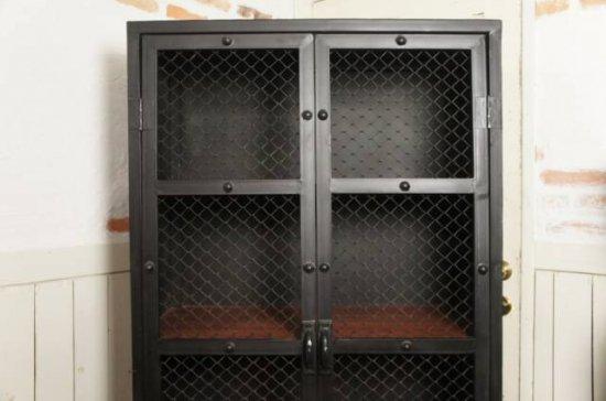 アンティーク調 アイアン 工業系 キャビネット インダストリアル シェルフ 店舗什器