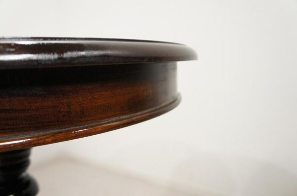 アンティーク調 オーバル ティーテーブル マホガニー ダーク