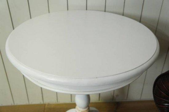 アンティーク調 オーバル ティーテーブル マホガニー ホワイト