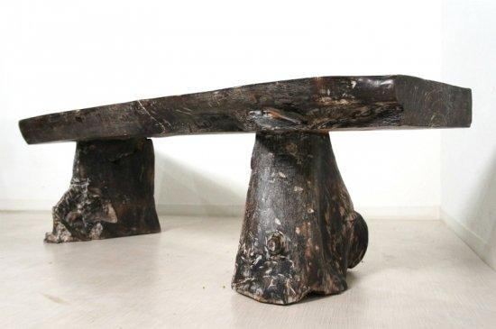 オールドチーク ベンチ 一枚板 長イス 椅子 無垢 幅157cm