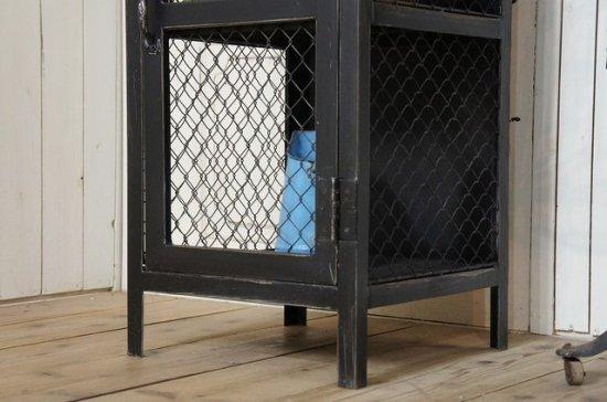 アンティーク調  ガーデン アイアン ストッカー 収納棚 道具入れ ブラック