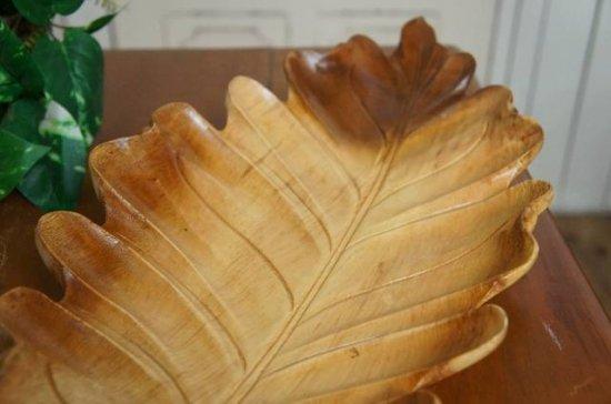 オリジナル ハンドメイド 葉っぱ型 サラダボウル 木製トレイ モンキーポッド 大型 70cm