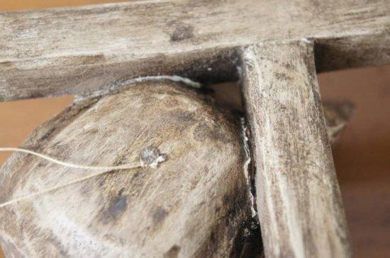 ハンドメイド 木製 オブジェ 海賊マーク ドクロ 髑髏 スカル