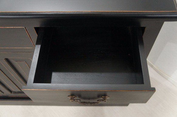 アンティーク調 レジ台 カウンター 店舗什器 収納棚 ブラック