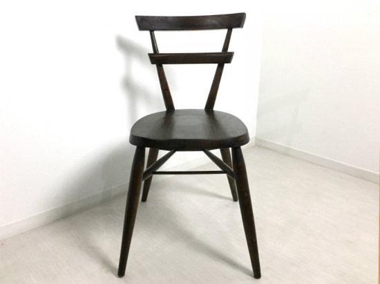 英国アンティーク調 スクールチェア 木製 椅子 マホガニー 無垢材 ダーク