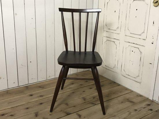 英国アンティーク調 スティックバック チェア カントリー 木製椅子 ダーク