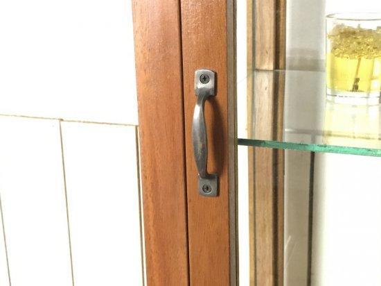 卓上 ガラスケース 古木 2段 5面 収納棚 飾り棚 縦長 駄菓子 店舗什器 ダーク