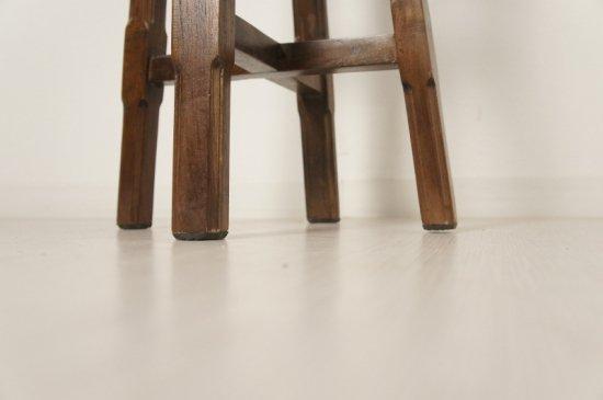 アンティーク調 総無垢 チーク カウンター スツール ハイタイプ 椅子 ダーク イス
