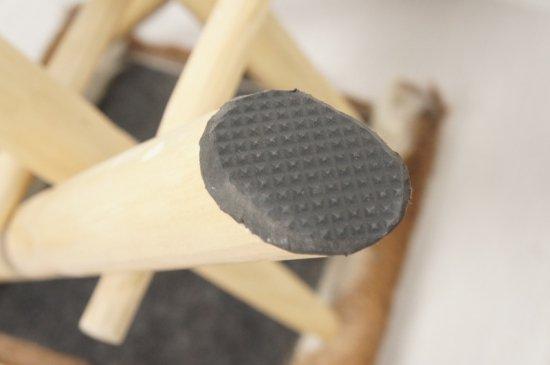 アンティーク調 ホールディングチェア 毛皮張 チーク ハラコ 折畳椅子 茶