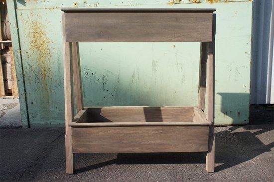 アンティーク調 2段 ウッド プランターラック 園芸ラック 木製 組立式 シャビー