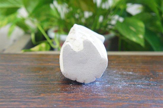 パラス石 石彫り バリ島 アジアン オブジェ 置物 シロフクロウ 10cm