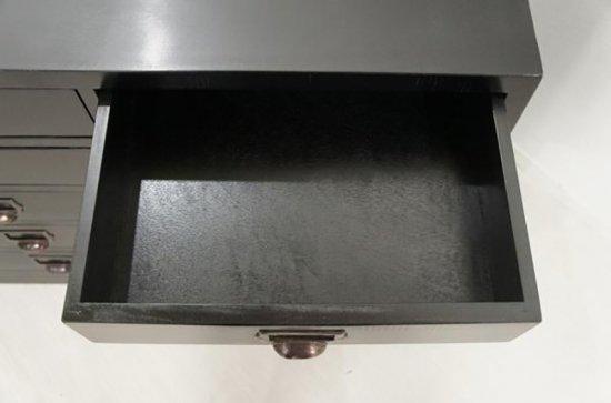 アンティーク調 20杯 ドロワーズチェスト マホガニー材 ブラック