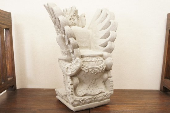 バリ島 女神のガルーダ? ヒンズー教 ヒンドゥー教 仏像 セメント像 石像 44cm