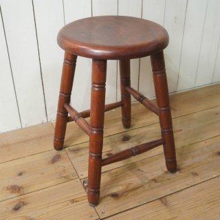 英国アンティーク調 西洋 スツール マホガニー無垢材 丸椅子 マホガニー