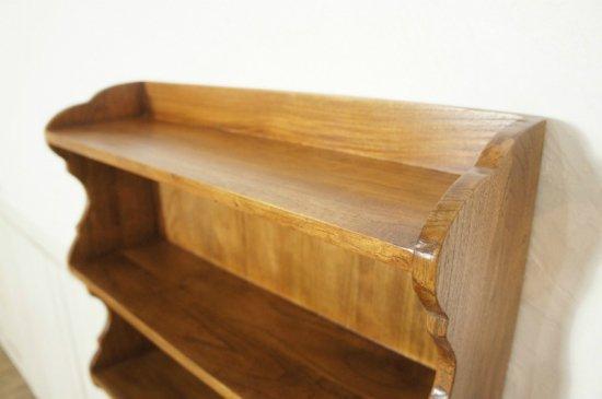 アンティーク調 木製 ウォールシェルフ ミンディ無垢材