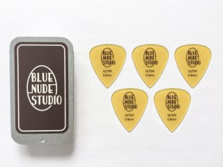 BLUE NUDE STUDIO ORIGINAL ULTEM PICK 0.8mm - Teardrop 5枚+ CONTAINER セット