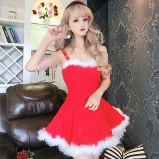 クリスマスパーティーやイベント衣装に フレアなAラインがキュートなスカートセットアップ 2色