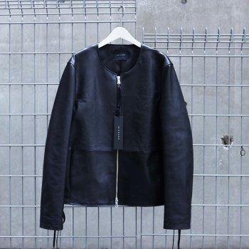 <img class='new_mark_img1' src='//img.shop-pro.jp/img/new/icons13.gif' style='border:none;display:inline;margin:0px;padding:0px;width:auto;' />Wizzard / NO COLLAR LEATHER BLOUSON<2017A/W COLLECTION先行予約アイテム>
