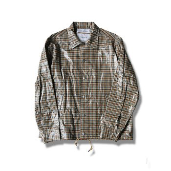 <img class='new_mark_img1' src='//img.shop-pro.jp/img/new/icons14.gif' style='border:none;display:inline;margin:0px;padding:0px;width:auto;' />DAIRIKU/ Laminating Check Coach Jacket