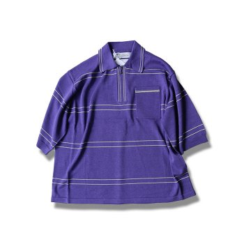 <img class='new_mark_img1' src='//img.shop-pro.jp/img/new/icons47.gif' style='border:none;display:inline;margin:0px;padding:0px;width:auto;' />DAIRIKU/ Half Zip Border Polo Knit
