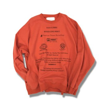 "<img class='new_mark_img1' src='https://img.shop-pro.jp/img/new/icons14.gif' style='border:none;display:inline;margin:0px;padding:0px;width:auto;' />DAIRIKU/ ""END ROLL"" Washed Sweater"