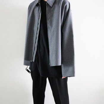 <img class='new_mark_img1' src='https://img.shop-pro.jp/img/new/icons14.gif' style='border:none;display:inline;margin:0px;padding:0px;width:auto;' />YOKE/  FIVE COLORS PLAID WOOL CUT-OFF DRIZZLER JKT