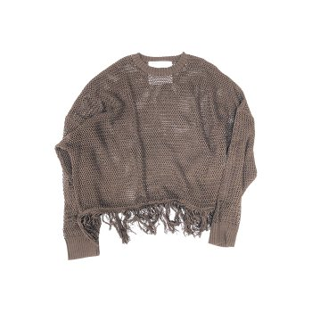 <img class='new_mark_img1' src='https://img.shop-pro.jp/img/new/icons14.gif' style='border:none;display:inline;margin:0px;padding:0px;width:auto;' />DAIRIKU/ Pullover Fringe Net Knit