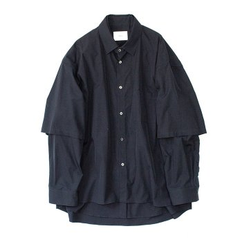 <img class='new_mark_img1' src='https://img.shop-pro.jp/img/new/icons14.gif' style='border:none;display:inline;margin:0px;padding:0px;width:auto;' />stein/ OVERSIZED DOUBLE SLEEVE SHIRT
