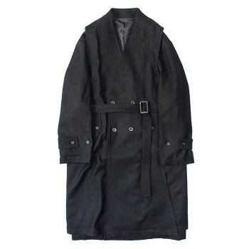 <img class='new_mark_img1' src='https://img.shop-pro.jp/img/new/icons14.gif' style='border:none;display:inline;margin:0px;padding:0px;width:auto;' />stein/ OVERSIZED LINEAR NO COLLAR COAT