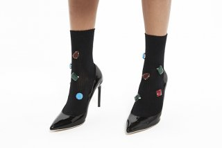 <b><font color='red'>RESTOCK</font></b>COLOR BIJOUX SOCKS<br>BLACK