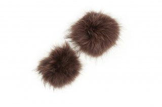 RACCOON FUR PARTS<br>BROWN