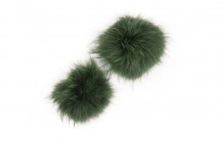 RACCOON FUR PARTS<br>GREEN