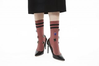 LIND COLOR BIJOUX SOCKS <br>PINK<img class='new_mark_img2' src='//img.shop-pro.jp/img/new/icons20.gif' style='border:none;display:inline;margin:0px;padding:0px;width:auto;' />