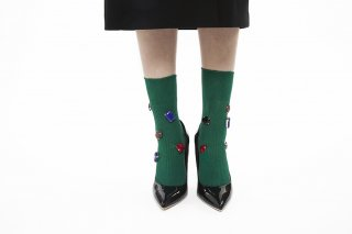 COLOR BIJOUX SOCKS<br>GREEN