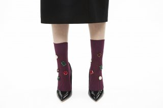 COLOR BIJOUX SOCKS<br>PURPLE