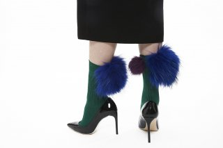 MIX FUR SOCKS<br>GREENxPURPLExBLUE