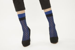 LAME LAYERED SOCKS<br>BLUE