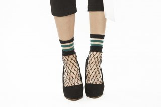 1711020/GREEN<br>SEE-THROUGH LAYERED SOCKS