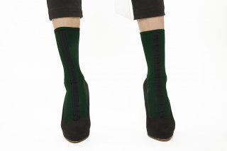 30D LINED SOCKS<br>GREEN×BLACK