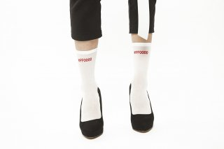 COLOR CODE SOCKS<br>WHITExRED