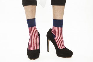 STRIPED SEE-THROUGH SOCKS<br>PINKxNAVY<img class='new_mark_img2' src='https://img.shop-pro.jp/img/new/icons20.gif' style='border:none;display:inline;margin:0px;padding:0px;width:auto;' />