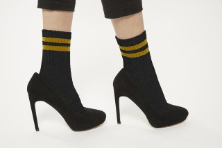 LINE LAME SOCKS<br>BLACKxYELLOW