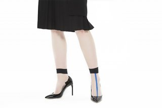 SEE THROUGH SOCKS<br>BLACKxBLUE<img class='new_mark_img2' src='//img.shop-pro.jp/img/new/icons20.gif' style='border:none;display:inline;margin:0px;padding:0px;width:auto;' />