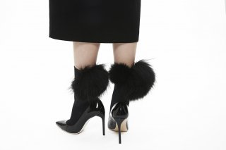 MIX FUR SOCKS<br>BLACK x BLACK