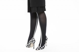 <b><font color='red'>NEW</font></b> ASIMETRIC LINED TIGHTS<br>BLACK