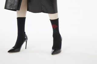 ASIMETRIC ROSE SPORTS SOCKS<br>BLACK