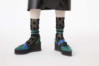 POLKA DOT SHEER SOCKS<br>BLACK